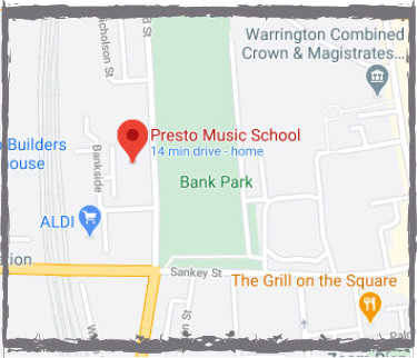 Warrington Map